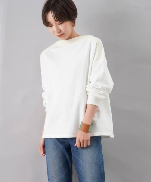 LUCA/LADY LUCK LUCA(ルカ/レディラックルカ)の「LC/LLL ヨークリブ裏毛プルオーバー(Tシャツ/カットソー)」|オフホワイト
