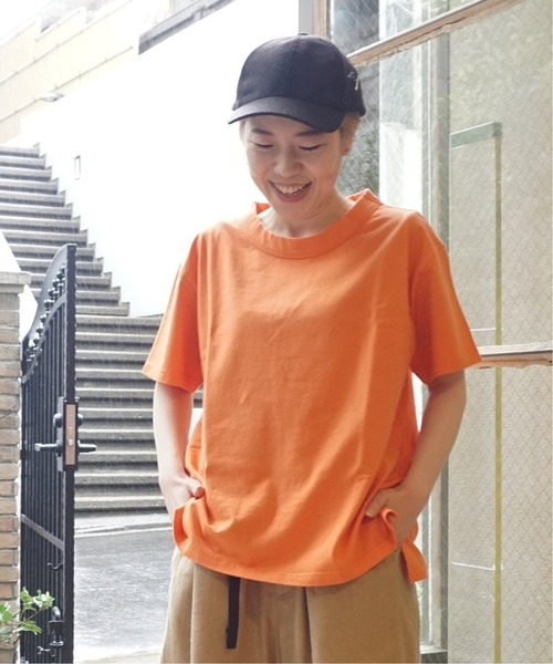 JOURNAL STANDARD LUXE(ジャーナルスタンダード ラックス)の「クラシックテンジク クルーT(Tシャツ/カットソー)」|オレンジ