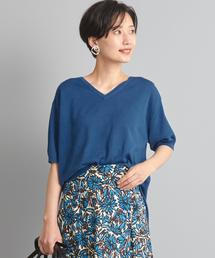 【WORK TRIP OUTFITS】★WTO CO/ACE スリット Vネック