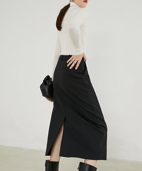 【Fano Studios】セミロングバックスリットスカート FD20B007