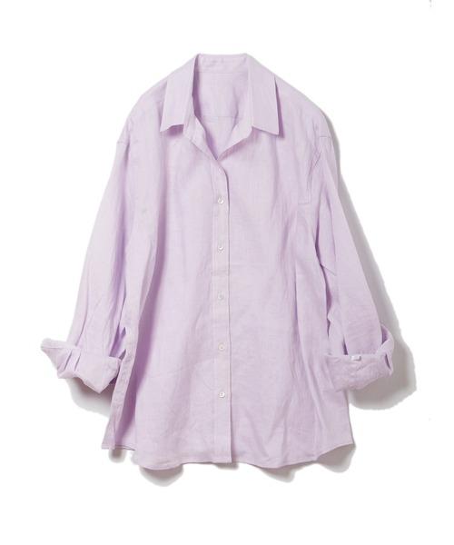 カラーリネンシャツ