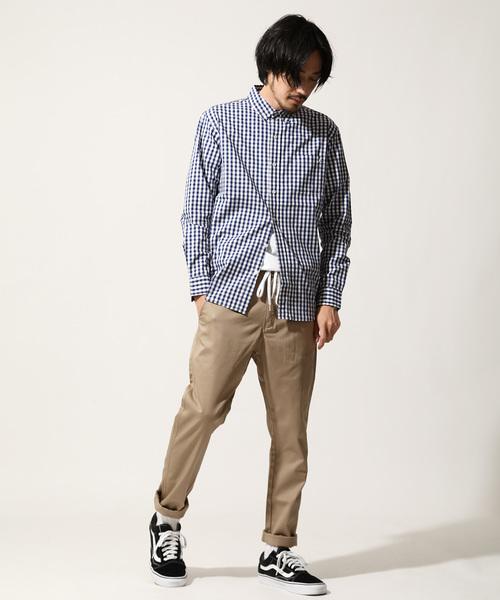 【別注・コラボ】ZIP FIVE × KANGOL ワンポイント刺繍ブロードシャツ