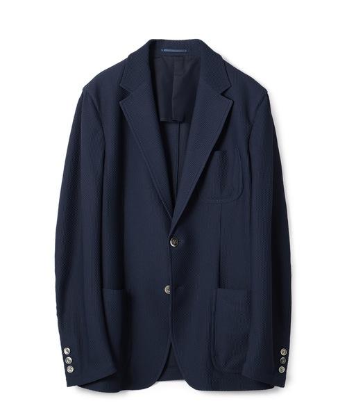 ESTNATION / BONOTTO 合繊メッシュジャージジャケット ネイビー/XL(エストネーション)◆メンズ テーラードジャケット