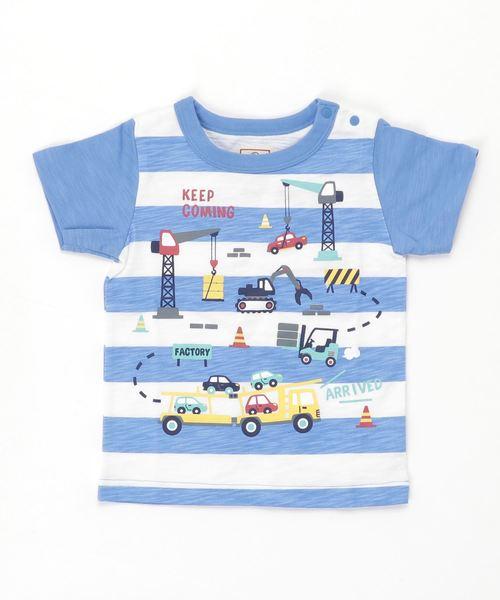 motherways(マザウェイズ)の「ボーイズ 半袖Tシャツ 全14柄(Tシャツ/カットソー)」|ブルー