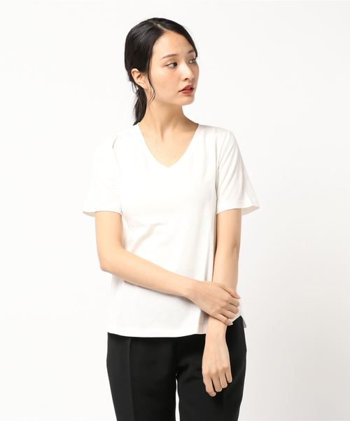 【スウェットレス】VネックTシャツ