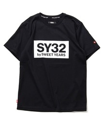 SY32 by SWEET YEARS(エスワイサーティトゥバイスィートイヤーズ)のボックスロゴT(TNS1708)(Tシャツ/カットソー)