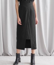 STUDIOUS(ステュディオス)の【STUDIOUS】パウダーサテン セットアップ スリットスカート(スカート)