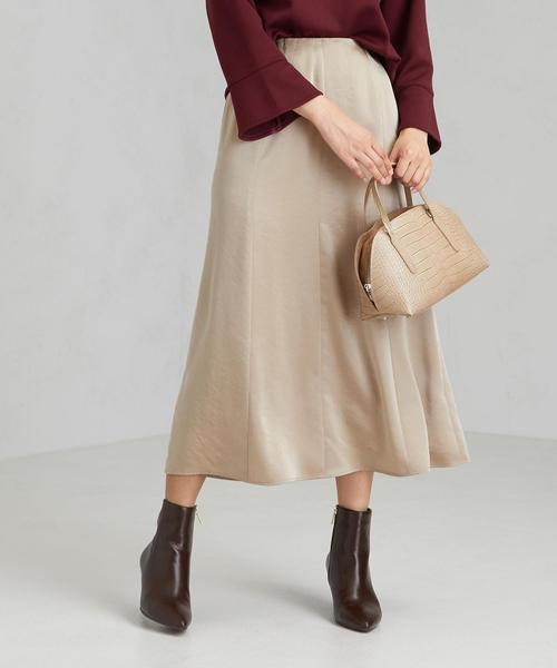 FFC サテン マーメイド スカート