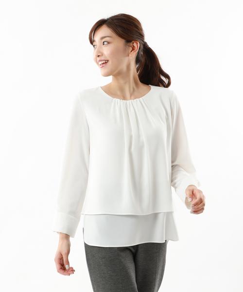 【再入荷】 【XSサイズ~】ジョーゼットコンビカットソー(Tシャツ/カットソー)|TRANS WORK(トランスワーク)のファッション通販, 常呂町:f4b07869 --- pyme.pe