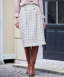 ANAYI(アナイ)のパステルツイードAライン スカート(スカート)