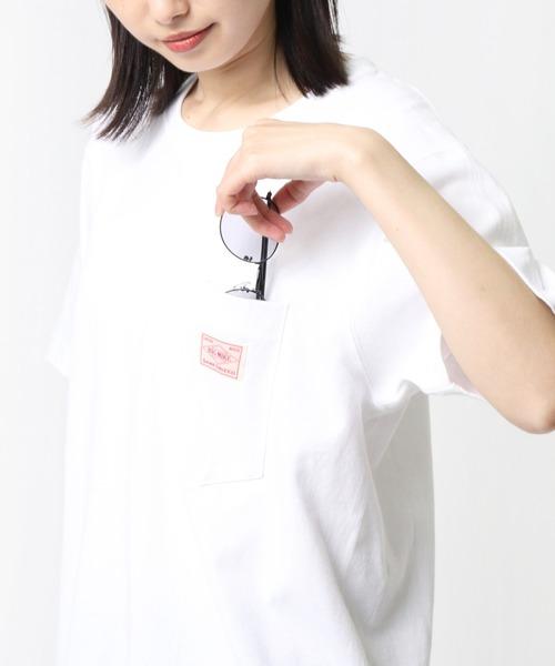 【 BIG MIKE / ビッグマイク 】 SANGLASSES POCKET TEE サングラスポケットオーバーTシャツ