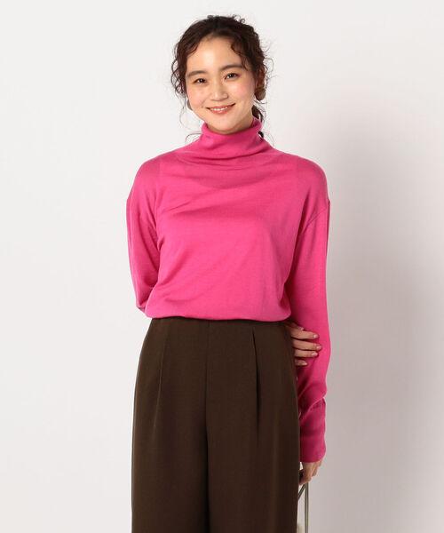 NOLLEY'S(ノーリーズ)の「ピリング防止ウールプルオーバーニット(ニット/セーター)」|ピンク