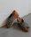 SESTO(セスト)の「フリンジ加工クロスミュールウエッジソールサンダル/スリッパサンダル(サンダル)」|ブラック×ホワイト