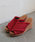 SESTO(セスト)の「フリンジ加工クロスミュールウエッジソールサンダル/スリッパサンダル(サンダル)」|レッド