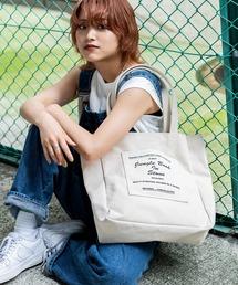 Rename キャンバス マーケットバッグ トートバッグ 大容量ホワイト×ブラック