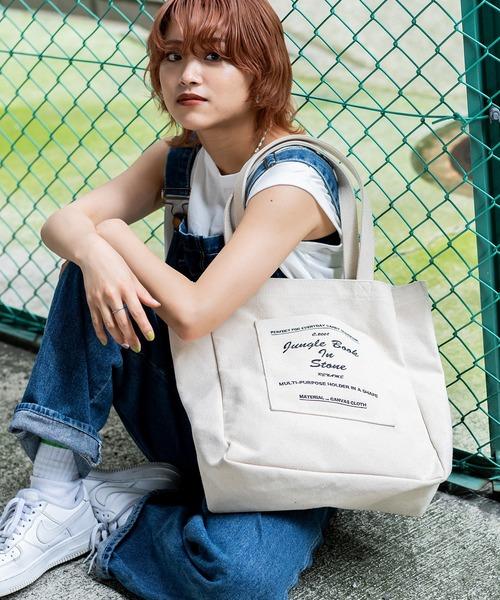 ★WEARISTA多数着用★ Rename キャンバス マーケットバッグ トートバッグ 大容量 エコバッグ お買い物袋 レジ袋