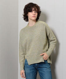 <boussole>MIX CREW NECK KNIT/ニット