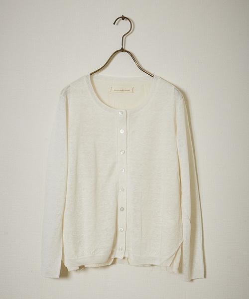 ikkuna / suzuki takayuki(イクナスズキタカユキ)の「knitted cardigan/ニッテッドカーディガン(カーディガン)」|ホワイト