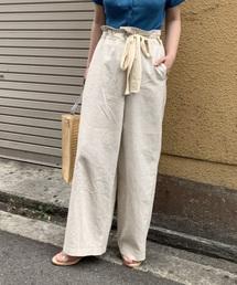 Kastane(カスタネ)のリネンリメイク風パンツ(パンツ)