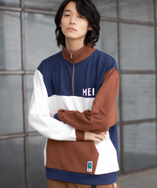 【GO OUT10月号掲載】【WEB限定】MEI(メイ)別注ハーフジップスウェット