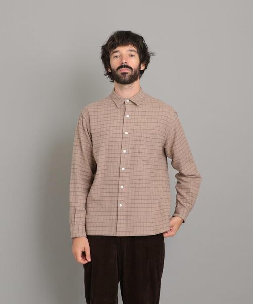 <Steven Alan> 21/ NEL CHECK BOX REGULAR COLLAR SHIRT-BOLD/シャツ