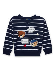 Toddler(トドラー)の「ストライプド パッチワーク スウェットシャツ(Tシャツ/カットソー)」