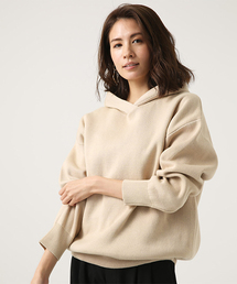 AZUL BY MOUSSY(アズールバイマウジー)のSWEATTER HOODIE TOPS(ニット/セーター)