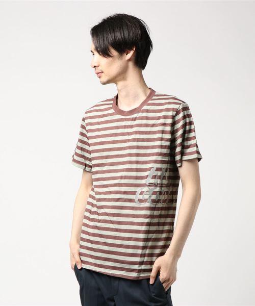 ALL GOOD オールグッド Icy Striped Cut Tee ロゴ ボーダー 半袖プリントTシャツ SP19-1002