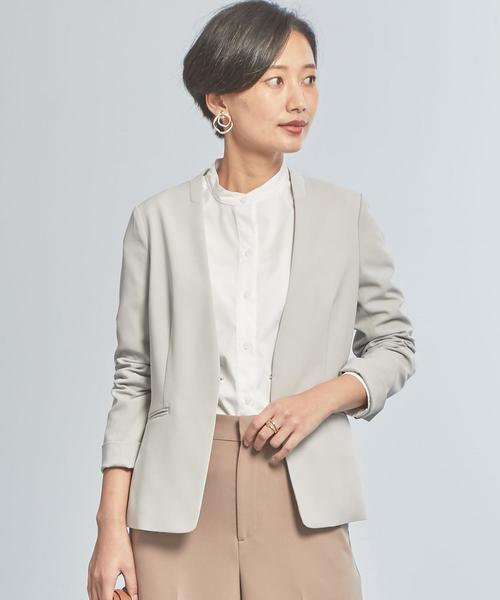 【WORK TRIP OUTFITS】★WTO D ツイル ノーラペル / ノーカラー