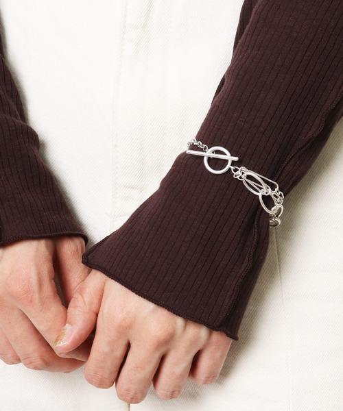 Chain bracelet / 二連チェーン ブレスレット ・・