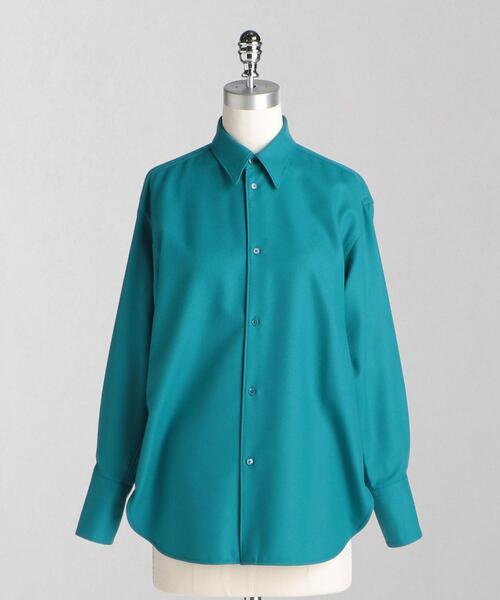 <LOEFF(ロエフ)>W フラノ レギュラーカラーシャツ