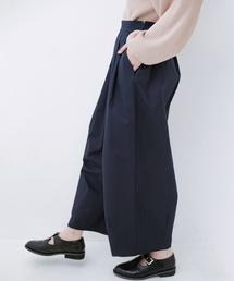 haco!(ハコ)の【再入荷】【洗濯機洗いOK】2キロ太ってもばれないくらいのたっぷりボリュームタックパンツ(パンツ)