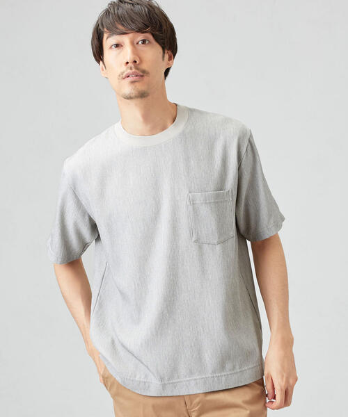 CM ドライ 楊柳 クルーネック 半袖 Tシャツ<機能性生地 / 吸水速乾性>