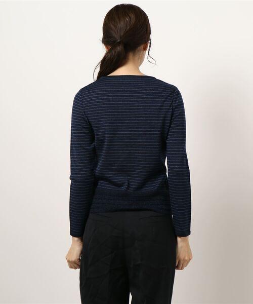 HANAE MORI(ハナエモリ)の「【HANAE MORI】ラメニットプルオーバー(Tシャツ/カットソー)」|詳細画像