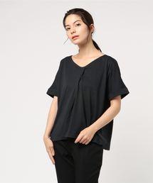 koe(コエ)の・スキッパーネック半袖プルオーバー(Tシャツ/カットソー)