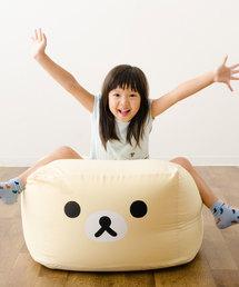 【リラックマ】ビーズクッション/キューブ Mサイズ(クッション/クッションカバー)
