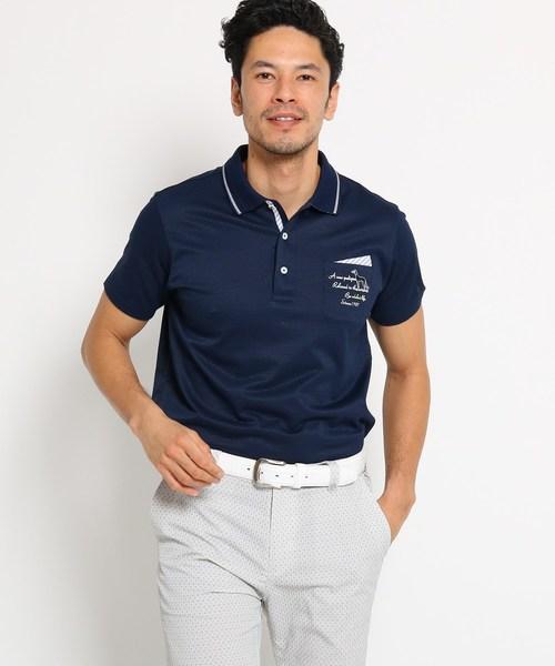 最大80%オフ! 【吸水速乾】胸ポケット付きミニチェック半袖ポロシャツ メンズ, 備前市 1f0e86bb