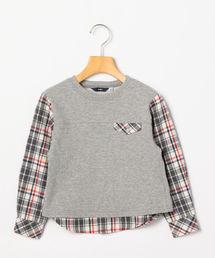 SHIPS(シップス)のSHIPS KIDS:スウェット×シャツ コンビ トップス(100〜130cm)(Tシャツ/カットソー)