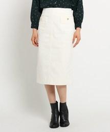 Dessin(デッサン)のボタンポケットコーデュロイタイトスカート(スカート)