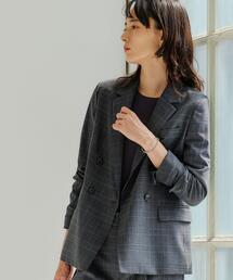 [ 手洗い可能 / カチリラ ] ◆D ダブル テーラード ジャケット ◇No04◇