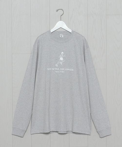<Sporty&Rich>LIVE LONGER LONG SLEEVE T-SHIRT/Tシャツ.
