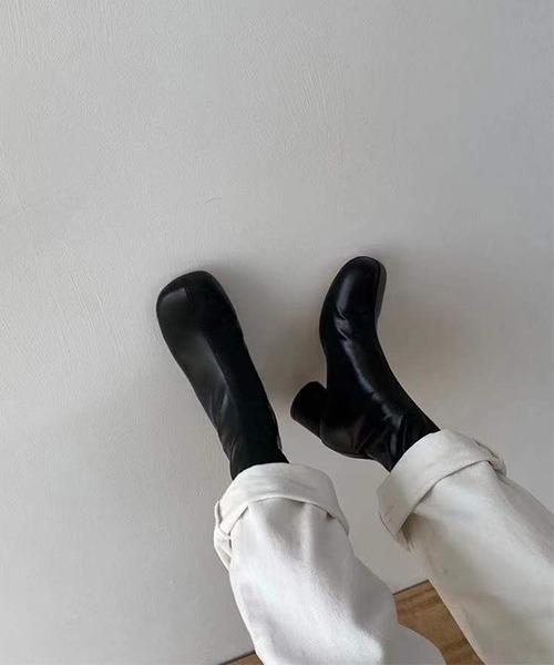 【chuclla】【2021/AW】Stretch round heel short boots chs21a045