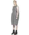 【数量限定】インポート Your Dress ユアドレス デザインワンピース ウール ギンガムチェック ブラック レディース [HOPE/ホープ] 結婚式/二次会/パーティー(ワンピース)