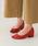 menue(メヌエ)の「イイ女ポインテッド ポインテッドトゥ チャンキーヒール 3cmヒール パンプス(パンプス)」|コーラルピンク