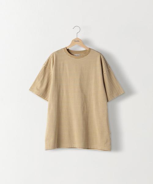 <Steven Alan> LIGHT HI-DENS BORDER SHORT SLEEVE TEE-BOX /Tシャツ