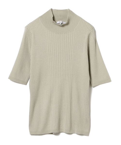 最高の three dots / リブ モックネック プルオーバー, ワイシャツのトレンドスタンダード d30cd0b7