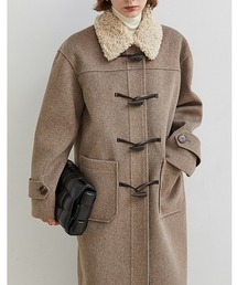 【Fano Studios】【2021AW】Boa collar duffle coat FD20W007ライトブラウン