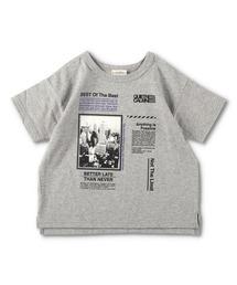 branshes(ブランシェス)の【WEB限定】裾スリット半袖Tシャツ(Tシャツ/カットソー)