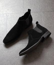 LASSU&FRISS(ラスアンドフリス)のスクエアトゥ ロングノーズサイドゴアブーツ(ブーツ)