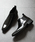 LASSU&FRISS(ラスアンドフリス)の「スクエアトゥ ロングノーズサイドゴアブーツ(ブーツ)」|ブラック